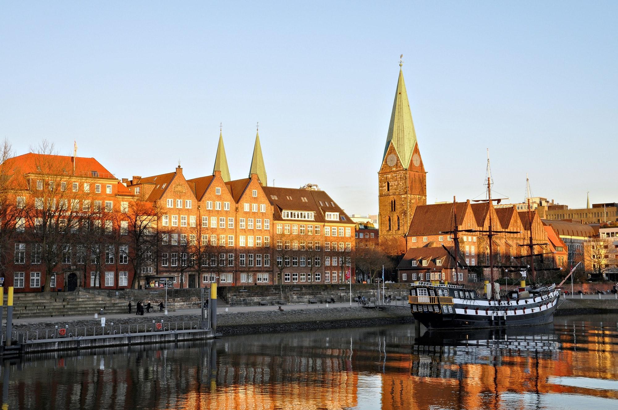 Germany. Bremen. The city at the shore berth old sailing ship. ❤️ nominated 💔
