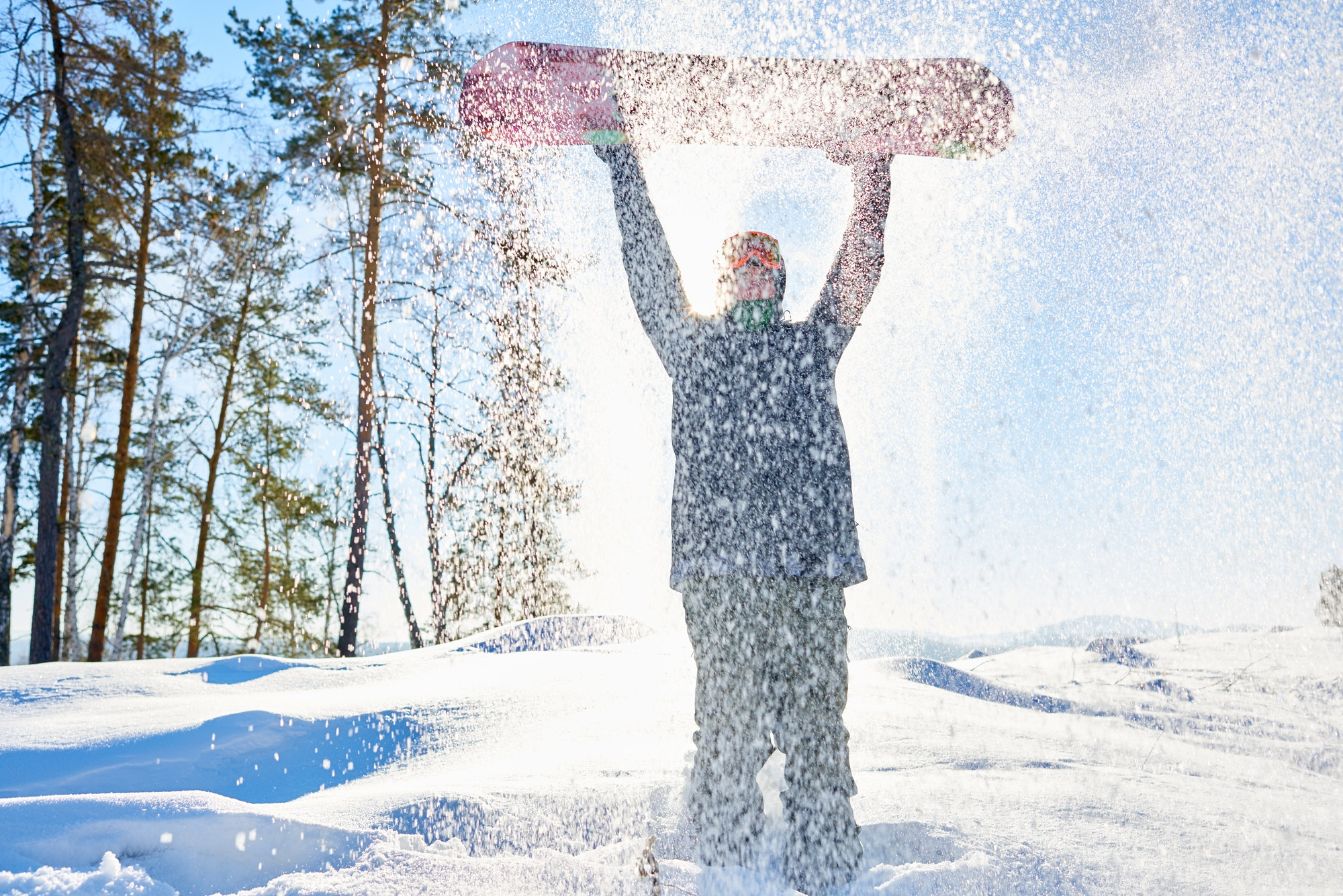 Snowboarder in Snow